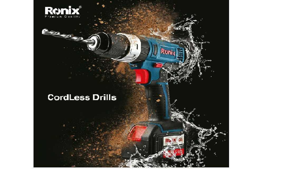 دریل شارژی رونیکس Ronix 8618، زیبا، کارا و با امکاناتی کم نظیر!